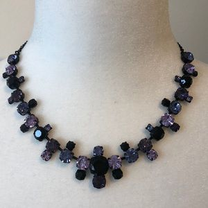 Beautiful Black and purple stones necklace